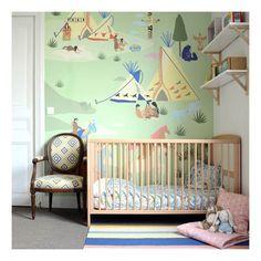 Little Cabari Nagawika Wallpaper is available on Smallable. More: http://en.smallable.com/nagawika-wallpaper-multicoloured-little-cabari-76984.html Home decor. Kid's room. Wallpaper. Wall art.