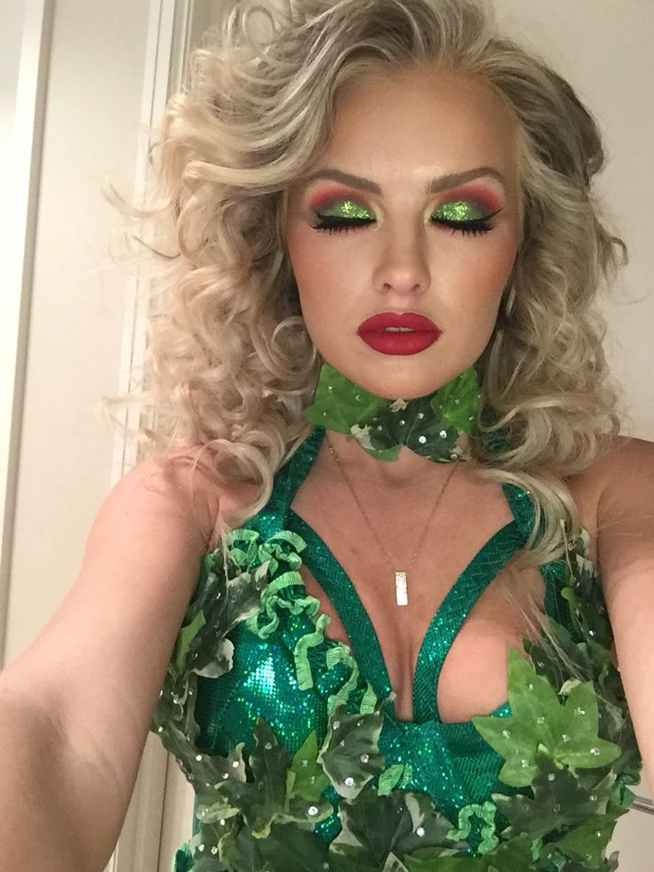 Curly Hair Costume Ideas : Best ideas about poison ivy makeup on