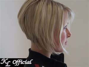 Inverted bob hairstyle - just like mine, but I don't have bangs. LOVE IT!!