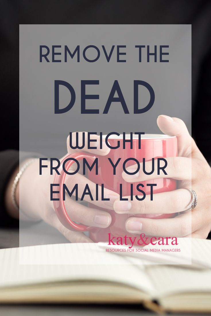REMOVER THE DEAD WEIGHT FROM YOUR EMAIL LIST