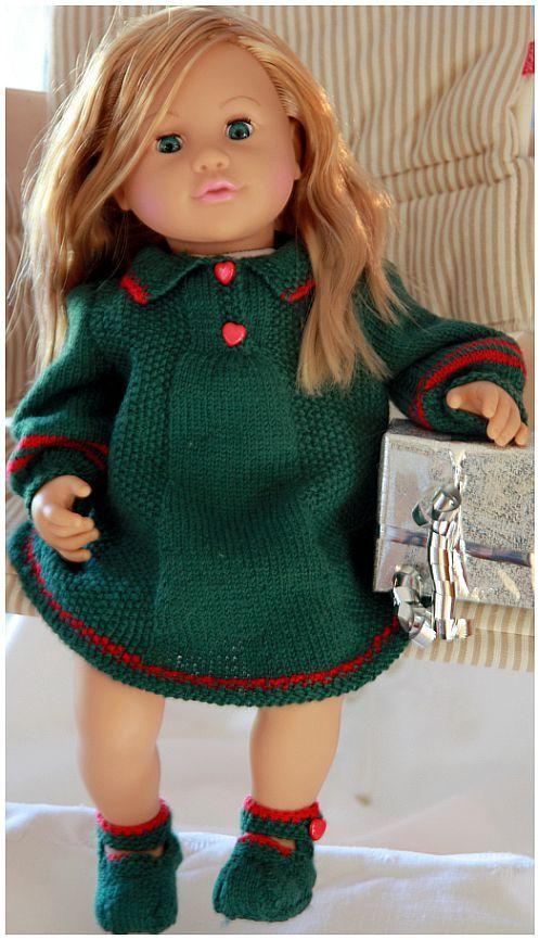 Christmas doll knitting dress | chou chou doll knitting | baby born clothes