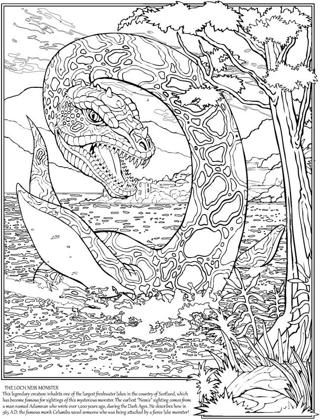 sea monster coloring pages Pin by Gena Andreano on Dover Coloring | Pinterest | Coloring  sea monster coloring pages