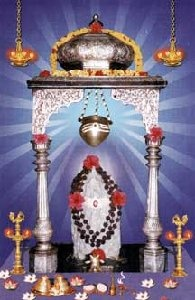 The Shivling in the Ksheerarama temple, white in Color, here.