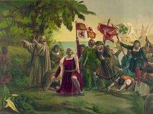 Columbus bereikt de Bahama's