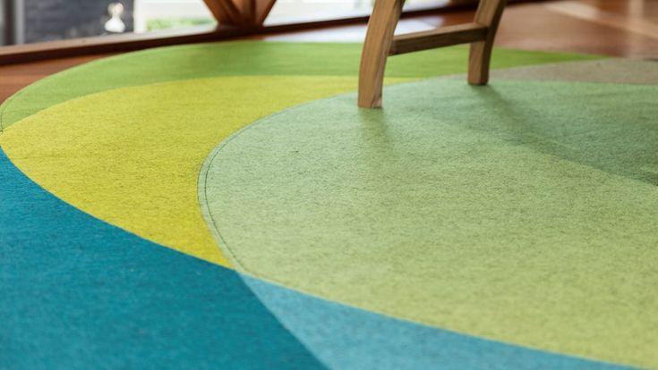 Fraster filt tæppe atom med lækre detaljer