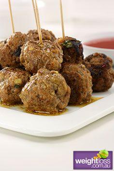 Healthy Entertaining Recipes: Meat Balls. #HealthyRecipes #DietRecipes #WeightlossRecipes weightloss.com.au