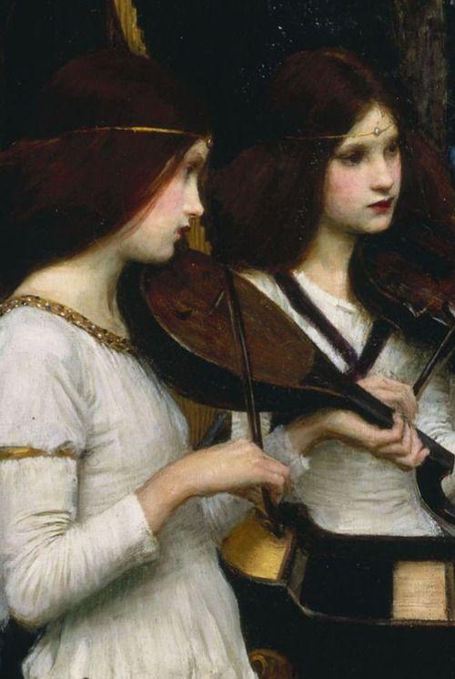 John William Waterhouse,Saint Cecilia (detail) 1895.