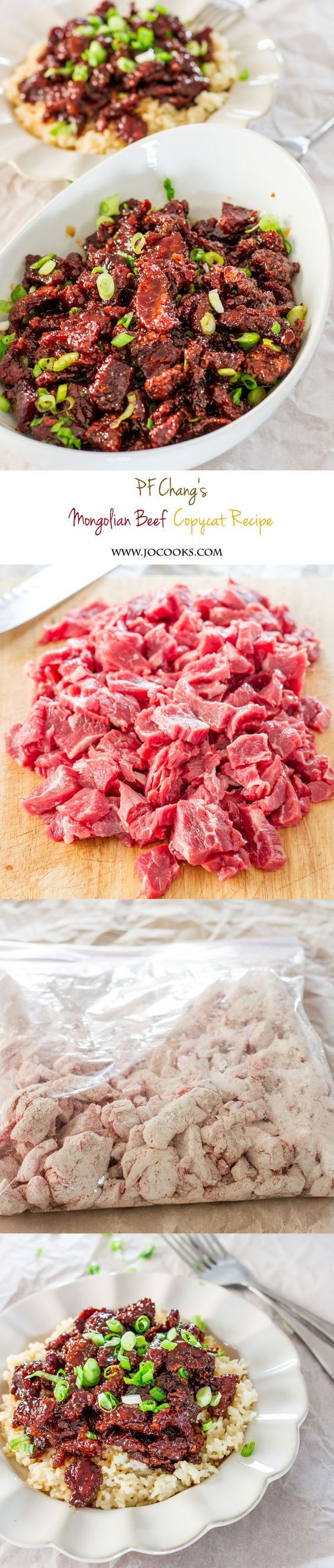 PF Chang's Mongolian Beef Copycat Recipe - soy sauce contains gluten so make sure you buy and use gluten free soy sauce!