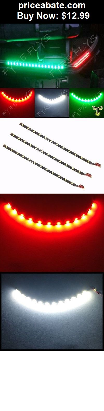 """Boat-Parts: 3x Boat Navigation LED Lighting RED,GREEN,WHITE 12"""" Waterproof Marine LED Strips - BUY IT NOW ONLY $12.99"""