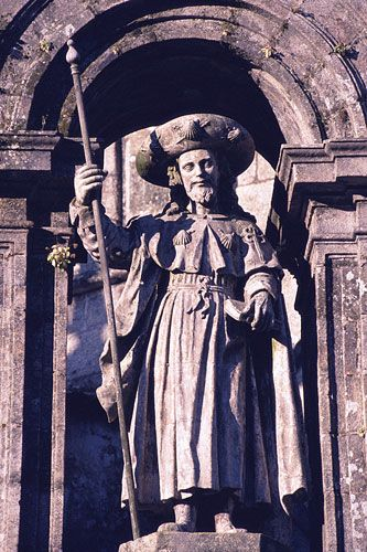 Statue of St. James the Elder, Cathedral of Santiago de Compostela, Spain