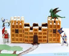 gateau chateau avec des gaufres