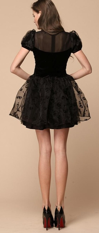 Lace skull dress. Too short for me, but cute nonetheless.