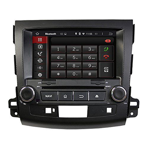 NewerStone Quad Core Android 4.4.4 Car Stereo for MITSUBISHI OUTLANDER support GPS/DVD/AM FM Radio/Steering Wheel Control/Bluetooth/Wifi/3G/AV-IN/Map Card/16 Gb Memory