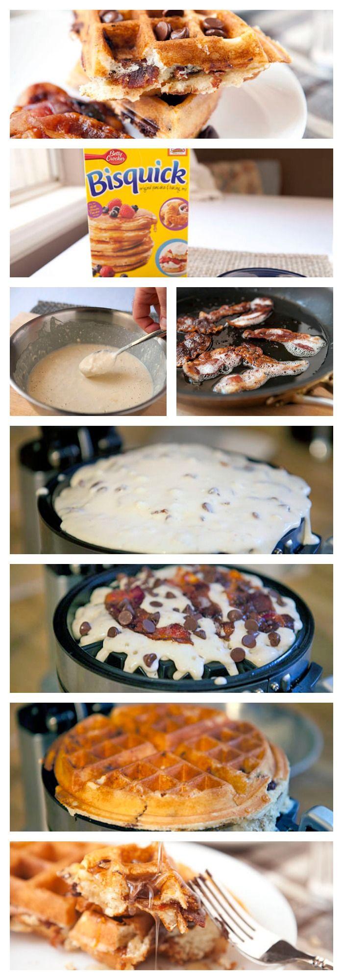 AMAZING Chocolate Bacon Waffles!