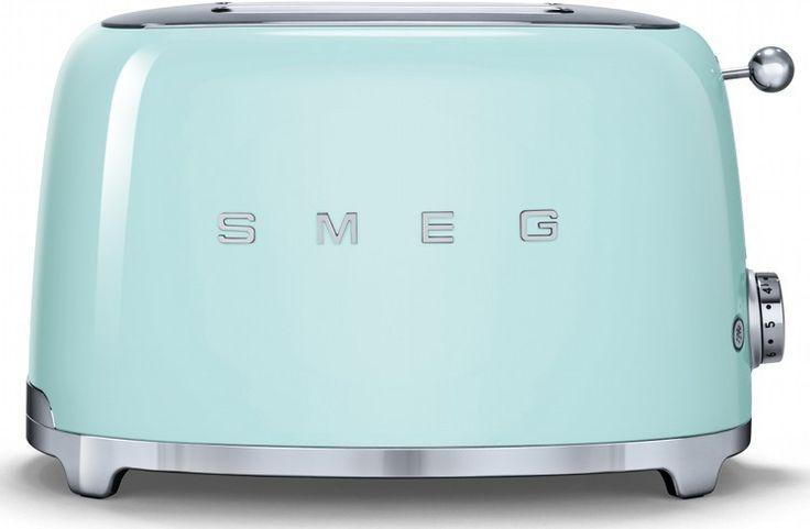 Smeg TSF01PGUK 50's Retro Style Toaster in Green