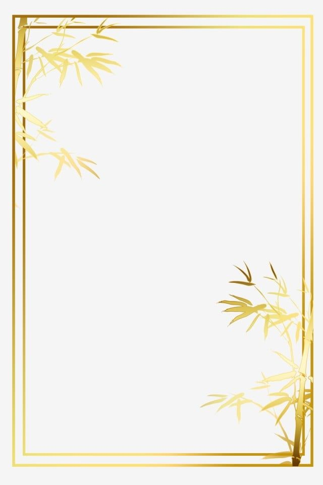 Bamboo Frame Gold Photo Border Dialog Photo Frame Texture Retro Hot Stamping Frame Clipart Gold Clipart Bamboo Clipart Fram Clip Art Gold Clipart Frame Clipart