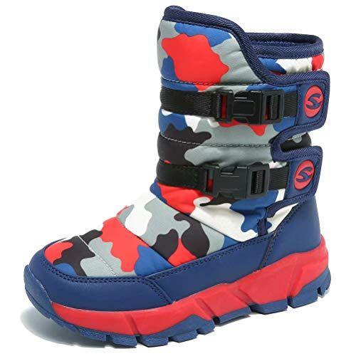 GUBARUN Boys Snow Boots Kids Hiking Boots Warm Shoes Slip Resistant Warterproof