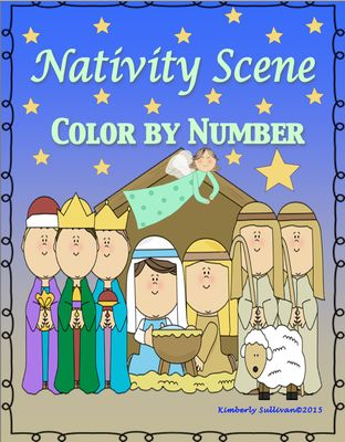 Free Christmas Nativity Scene Color