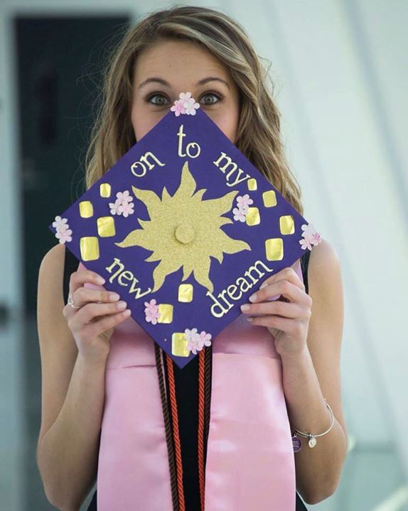 rapunzel tangled Disney graduation cap