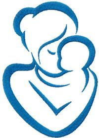 Mother and baby free embroidery design. Machine embroidery design. www.embroideres.com