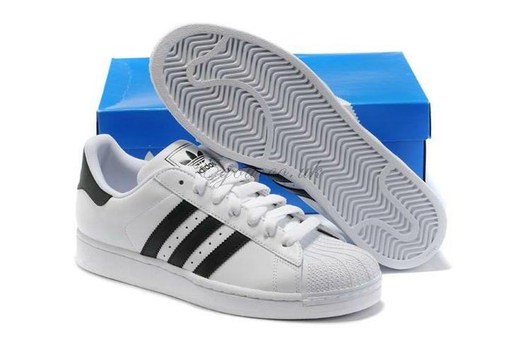 Fashion Adidas Superstar II White Black E For Women.