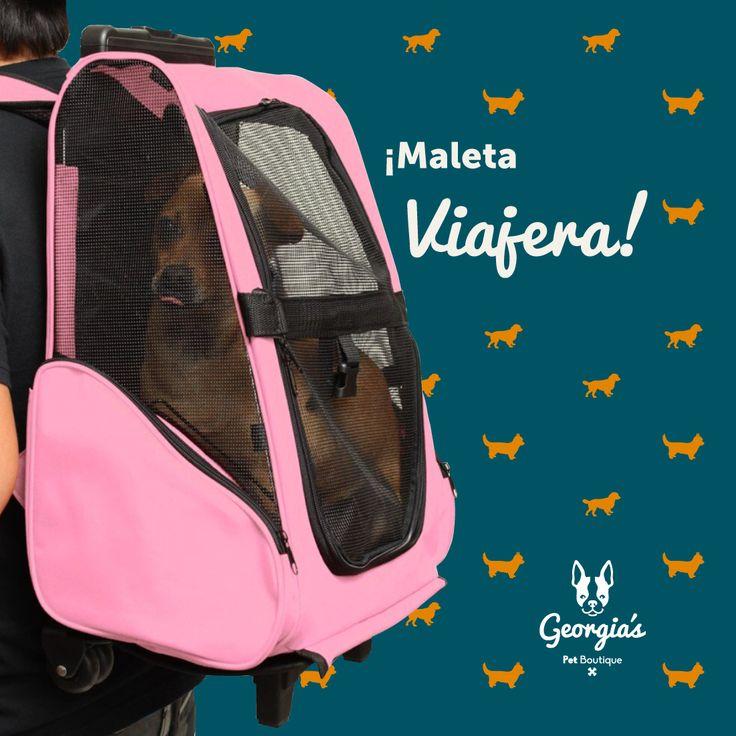 ¡Ya no tienes excusa! me puedes llevar a todo lado con tu Maleta Viajera. $260.000. Georgia´s Pet Boutique