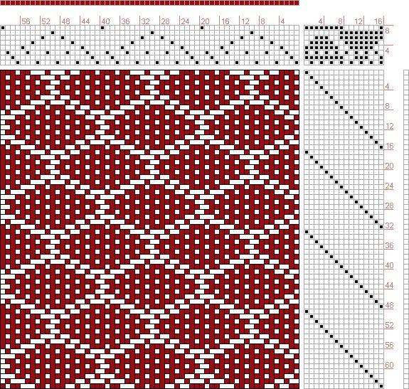 Hand Weaving Draft: 20076, 2500 Armature - Intreccio Per Tessuti Di Lana, Cotone, Rayon, Seta - Eugenio Poma, 8S, 16T - Handweaving.net Hand Weaving and Draft Archive