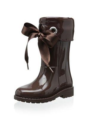 50% OFF igor Kid's Campera Charol Rain Boot (Marron)