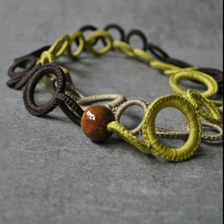 The warm colors of the earth, for an exclusive Aliquid Textile Necklace