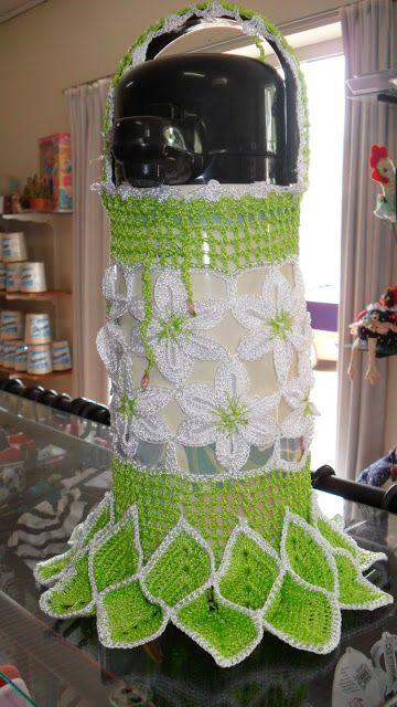 Crochê Gráfico: Capa de garrafa térmica