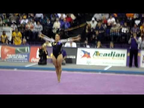 LSU Gymnast, Jessica Savona (Floor Routine)