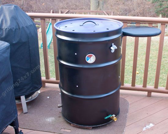 Completed #UDS ugly drum smoker.  My homemade smoker