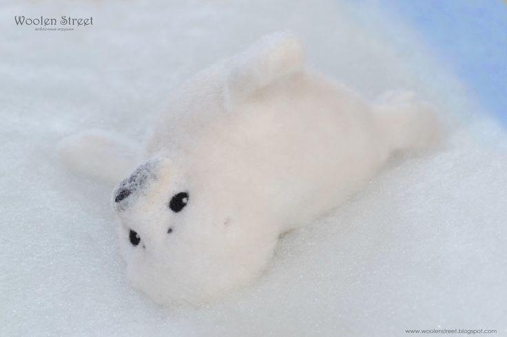 Woolen Street • Мастерская войлочных игрушек: Маленький тюлень