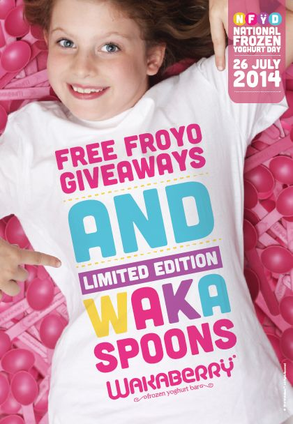NFYD - free froyo giveaways and limited edition Waka Spoons!