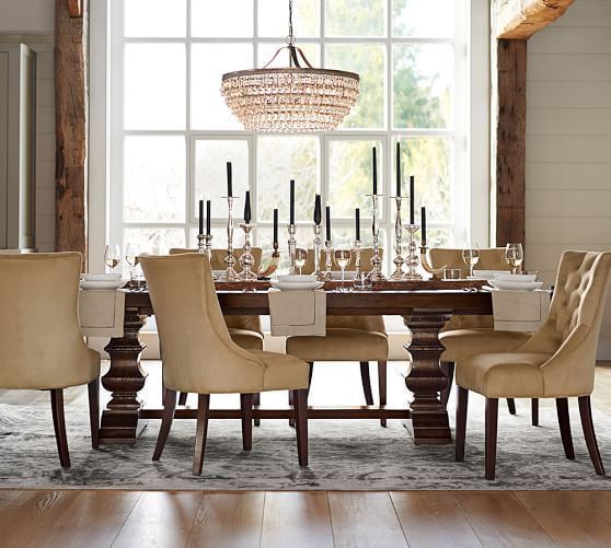 Pottery Barn Dining Room Set: Banks Extending Dining Table