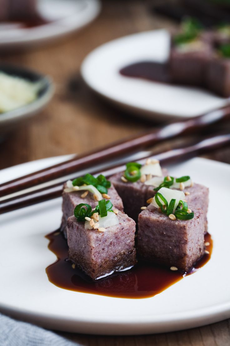 """Adzuki Bean Tofu - Creamy, nutty, soy-free """"tofu""""   Snixy Kitchen"""