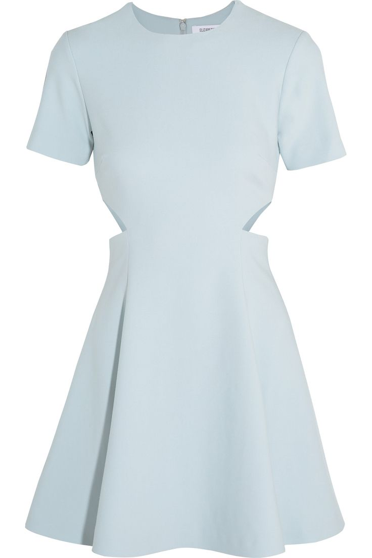 ELIZABETH AND JAMES Leonie cutout stretch-piqué mini dress. #elizabethandjames #cloth #dress