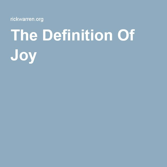 The Definition Of Joy