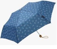 Seasalt Brolly Anchor Cadet Umbrella Blue Rainstopper Buy online at www.jinneyring.co.uk