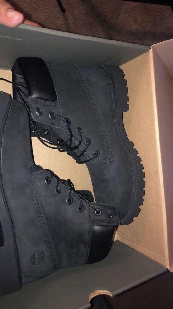 black timberland boots Size 7 Kids #fashion #clothing #shoes