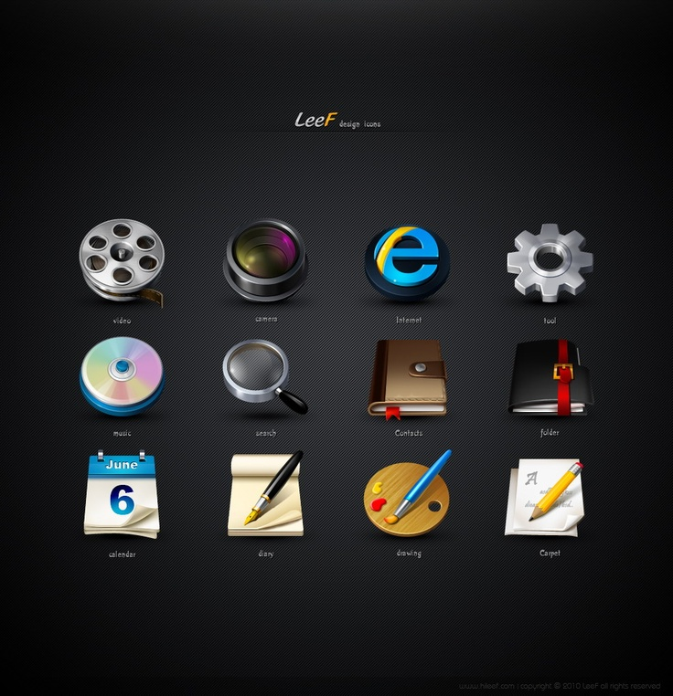 Mobile icon design by Leef