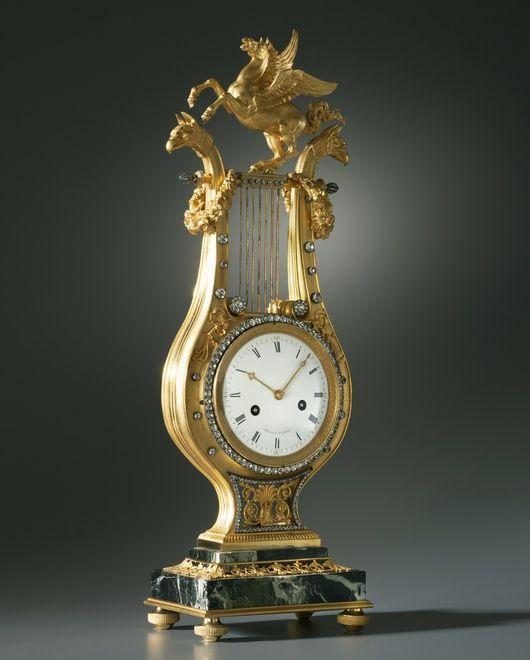 A LOUIS XVI LYRE CLOCK BY MANIÈRE, PARIS, DATE CIRCA 1785