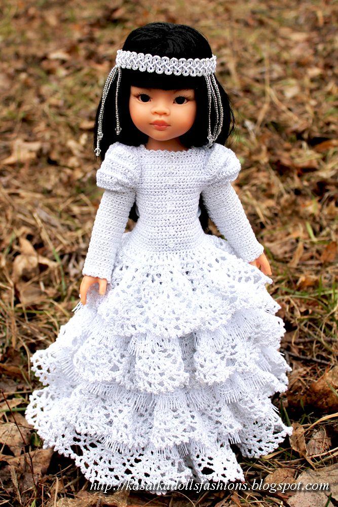 KasatkaDollsFashions: Платье крючком для кукол Паола Рейна