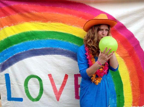 photobooth-arc-en-ciel pour rainbow party