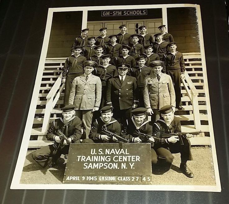 1945 US Naval Training Center Gunner's Mate School Class 2745 Sampson NY Photo - $12.95 | PicClick