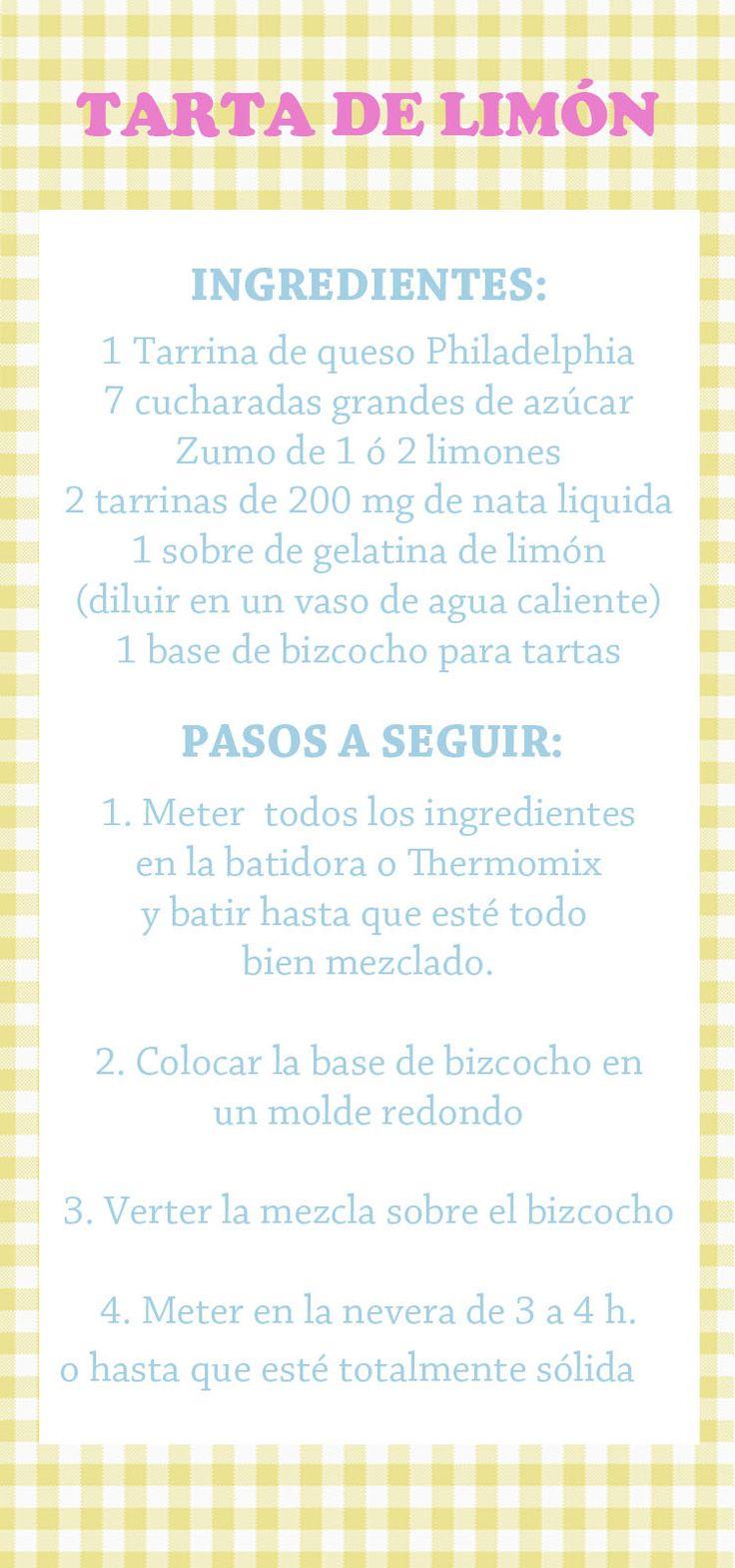 Tarta de Limón (Thermomix)