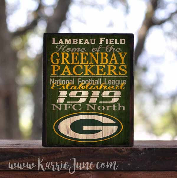 GREEN BAY PACKERS, Jets, Panthers, Patriots, Ravens...sign block by KarrieJunePrimitives on Etsy