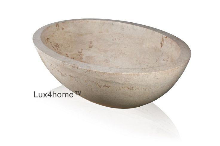 Oval #bathtubs. #Marble Bathtubs Aurea made in #Indonesia.   We are looking for importers our stone products.   We use ether marble stone ( grey / yellow / cream ) or black Andesit.   This marble bathtub we produce in black marble, cream marble, grey marble  #marblebathtub #stonebathtub #bathtubs #bathroom #stone