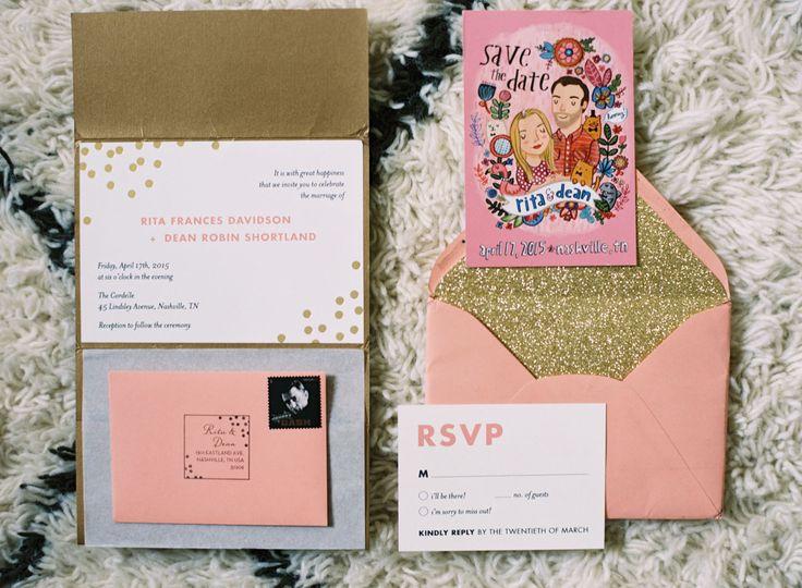 Glitter invitation105 best Love a Good Invite images on Pinterest   Invitations  . Nashville Wedding Invitations. Home Design Ideas