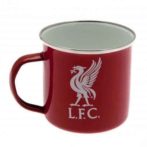 Enamel Liverpool FC tin mug in club colours and featuring the club crest. Great…